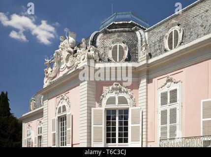Benrath Palace, Duesseldorf, North Rhine-Westphalia, Germany, Europe - Stock Photo