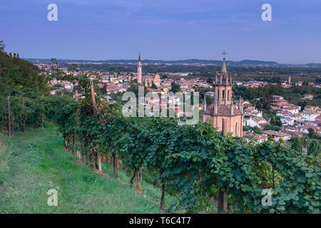 Italy, Veneto. Prosecco Road. Treviso district. Farra di Soligo. Chiesa del Colle di San Martino - Stock Photo