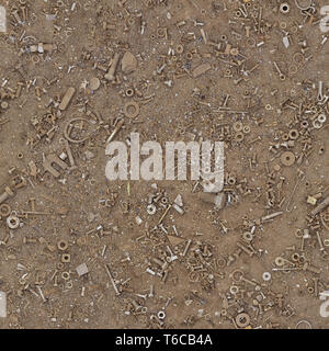 Rusty Nuts and Bolts Seamless - Stock Photo