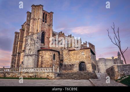 Church of Santa Maria de la Asuncion in Castro Urdiales seaport in Cantabria region of Spain