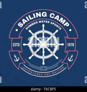 59da9c084 Sailing camp badge. Vector illustration. Concept for shirt, print, stamp or  tee