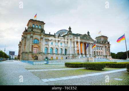 Reichstag building in Berlin, Germany - Stock Photo