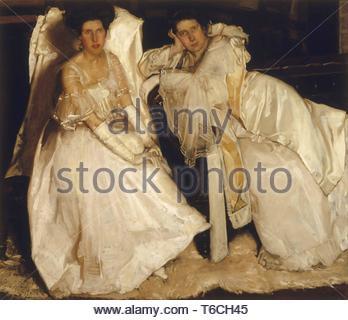 Hugh Ramsay-The sisters - Stock Photo