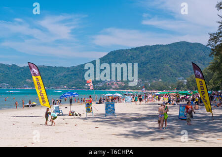 Hat Patong, beach, Patong, Phuket island, Thailand - Stock Photo