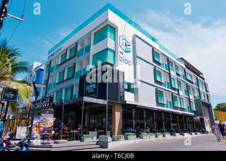 The Bloc, hotel and entertainment complex, Beach Road, Thawewong Road, Patong, Phuket island, Thailand - Stock Photo