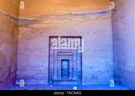 Inside Petra Monastery, Petra, Jordan. - Stock Photo