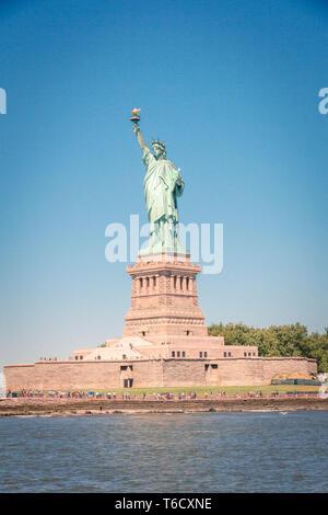 Freiheitsstatue in new york, new york city, nyc, manhattan, usa / statue of liberty liberty island - Stock Photo