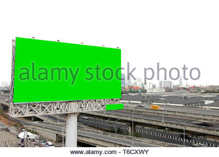 Billboard blank for outdoor advertising poster on the highway - Stock Photo