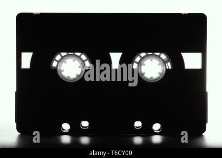 Vintage retro audio cassette. Analog music, entertainment and hipster concept. - Stock Photo