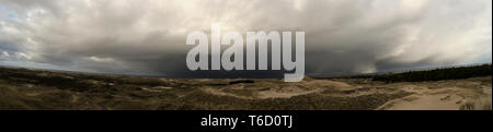 Panoramic View on the North Frisian Island Amrum in Germany - Stock Photo