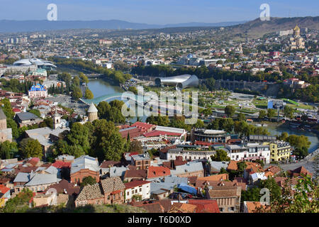 Panoramic view of Tbilisi, Georgia - Stock Photo