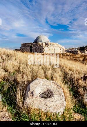 Umayyad Palace, Amman Citadel, Amman Governorate, Jordan - Stock Photo