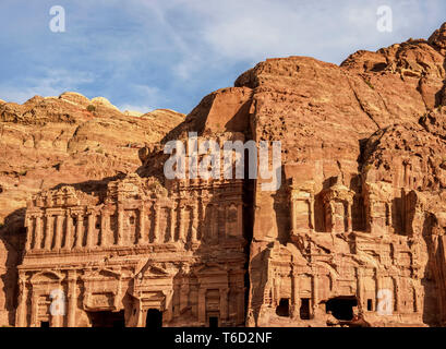 Palace and Corinthian Tombs, Petra, Ma'an Governorate, Jordan - Stock Photo