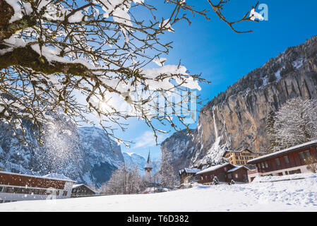Lauterbrunnen, Berner Oberland, canton of Bern, Switzerland - Stock Photo