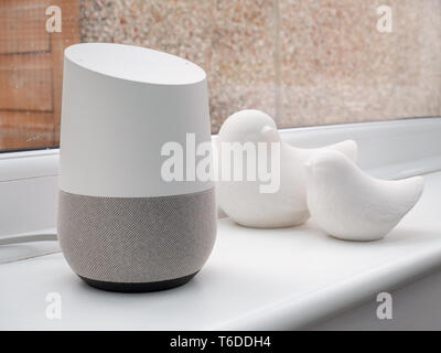 smart home device on windowsill - Stock Photo