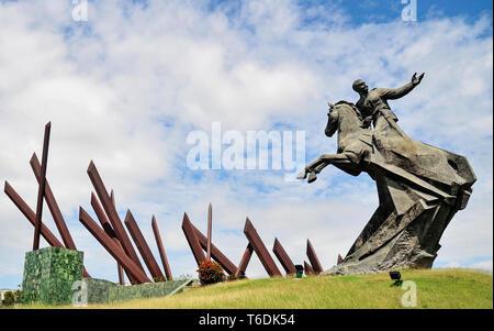 General Antonio Maceo monument, Plaza de la Revolucion, Santiago de Cuba, Cuba - Stock Photo