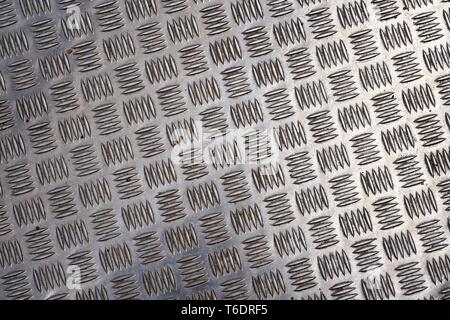 Surface of a checker plate on a bridge - Stock Photo