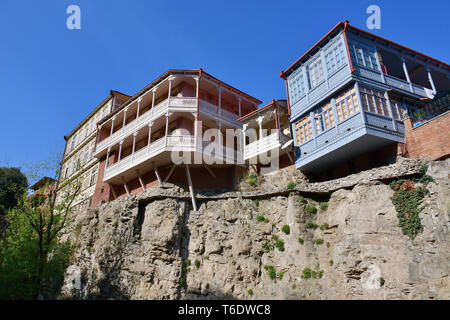Old houses in downtown, Tbilisi, Georgia - Stock Photo