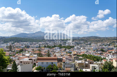 the crete town Rethymno, seen from the old castle - Stock Photo