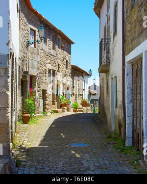 Famous Portugal village street. Monsanto - Stock Photo