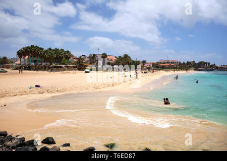 Santa Maria Beach, Sal Island, Cape Verde, Africa - Stock Photo