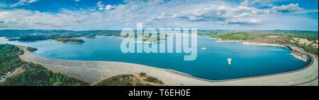 Cardinia Reservoir Lake - aerial panoramic landscape