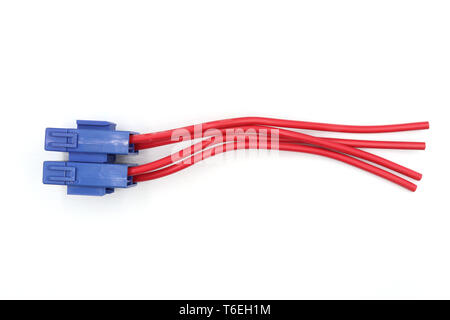 cylinder Fuse with red auto fuse for repair car, fuse box, isolated on white background High resolution image gallery. - Stock Photo