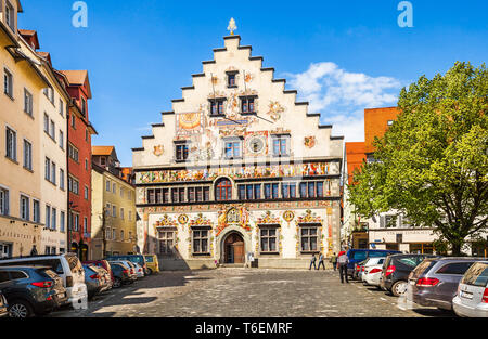 The old town hall in Lindau - Stock Photo