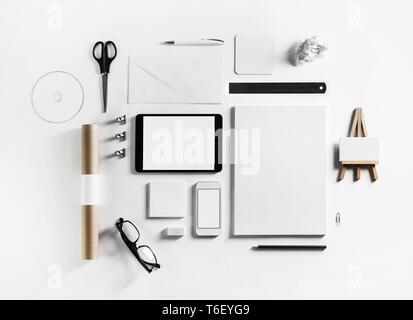 Blank corporate stationery - Stock Photo