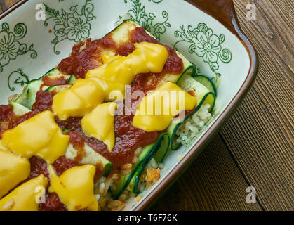 Zucchini Enchiladas - Stock Photo