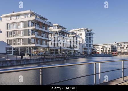 Cityscape of Phönixsee Dortmund-Hörde - Stock Photo