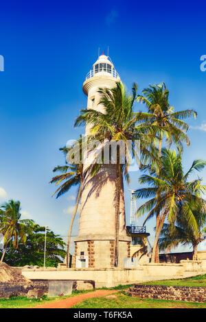 Lighthouse in Galle fort, Sri Lanka - Stock Photo