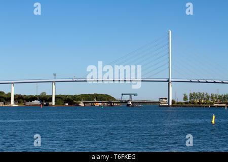 The Rugia Bridge. Stralsund - Stock Photo