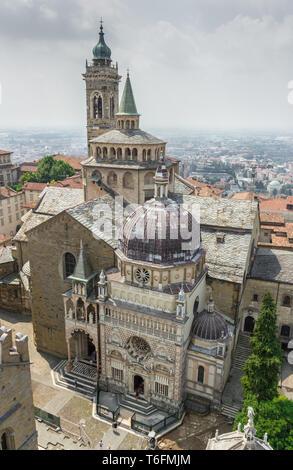 Basilica of Santa Maria Maggiore in Bergamo - Stock Photo