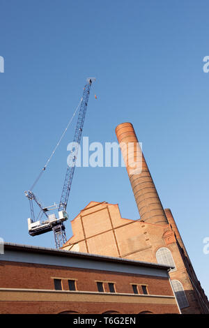 Lots Road Power Station being re-developed, Fulham, London, England - Stock Photo