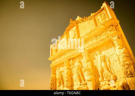 GALLIPOLI, ITALY - Greek fountain, 3rd century BC - Stock Photo