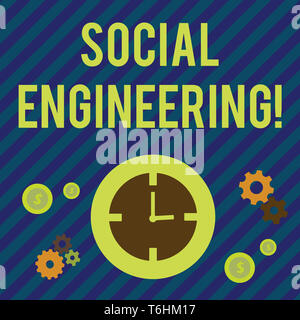 Text sign showing Social Engineering. Business photo showcasing attack photo that relies heavily on huanalysis interaction Time Management Icons of Cl - Stock Photo