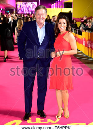 Embargoed to 0001 Thursday May 02 File photo dated 16/10/2018 of Piers Morgan and Susanna Reid. Reid has said her fellow presenter drove her to drink again. - Stock Photo