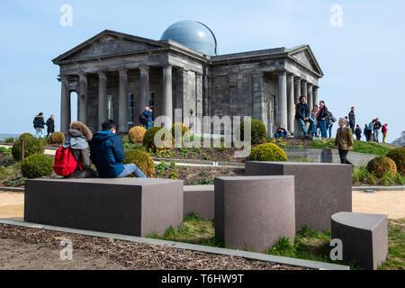 Restored City Observatory, now the Collective Arts Centre, on Calton Hill, Edinburgh, Scotland, UK - Stock Photo
