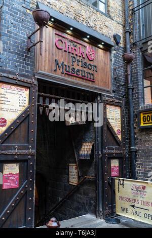 LONDON, UK - APRIL 1, 2019: Clink Prison Museum Entrance, Museum in London - Stock Photo