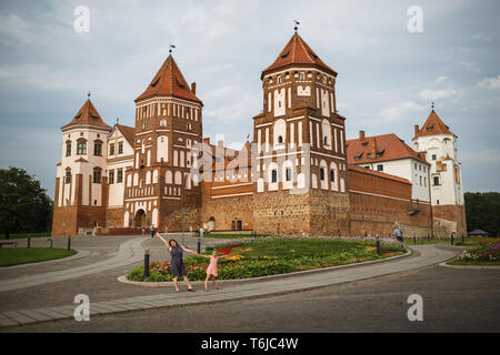 Castle in Mir, Belarus - Stock Photo