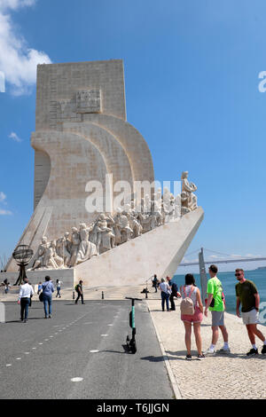 Monument to the Discoveries of the New World Lisboa Lisbon Portugal Europe EU  KATHY DEWITT - Stock Photo