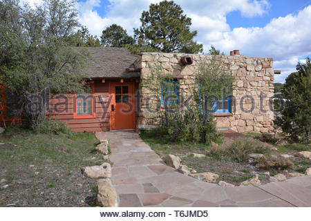 Bright Angel Lodge, Grand Canyon National Park, Arizona, USA - Stock Photo