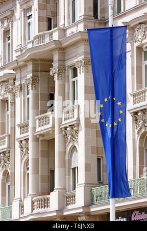 ZAGREB, CROATIA - JUNE 12, 2013: Flag of European Union - Stock Photo