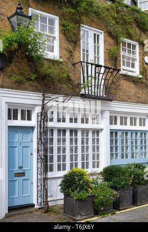 Houses in Bathurst Mews, Hyde park estate, Bayswater, London, England - Stock Photo