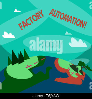 Word writing text Factory Automation. Business photo showcasing automatic operation and control of machinery or processes Mountain View with Marked Hi - Stock Photo