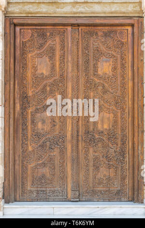 Door to the orthdox cathedral of presentation of the Lord in Chania in Crete - Stock Photo