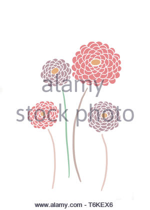 Pink Peony Digital Illustration - Stock Photo