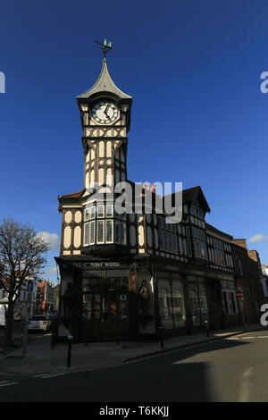 clock tower commisioned in Castle Road, Southsea, Portsmouth, England by Gales brewery and designed by architect J. W. Walmisley - Stock Photo