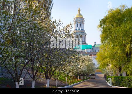 Kiev Pechersk Lavra in the sping. Kiev, Ukraine - Stock Photo